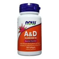 Анонс фото now a & d 10000/400 iu (100 softgels)