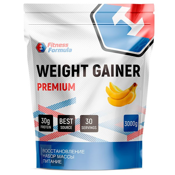 Анонс фото fitness formula weight gainer premium (3000 гр) банан