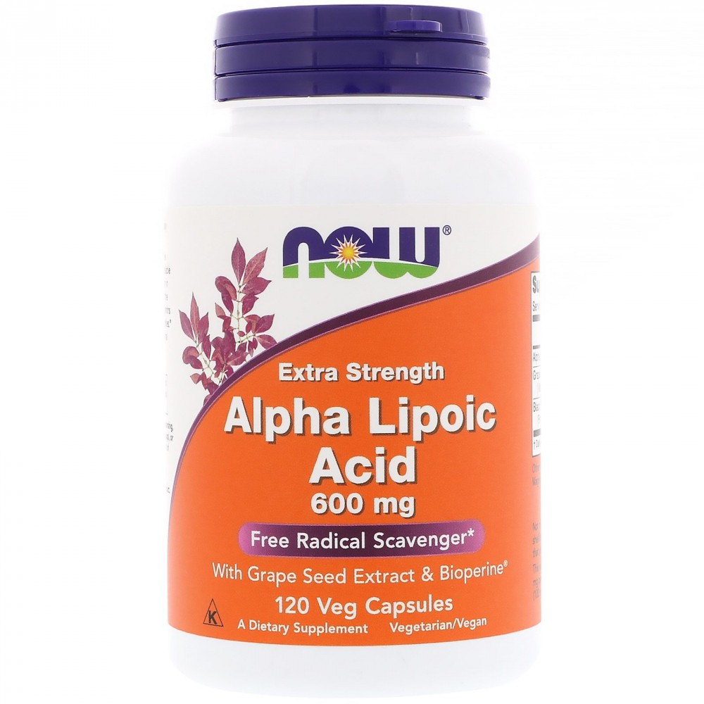 Анонс фото now alpha lipoic acid 600 mg (120 капс)