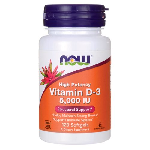 Анонс фото now vitamin d-3 5000 iu (120 softgels)