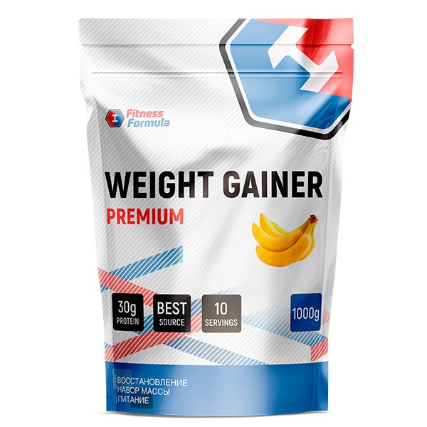 Анонс фото fitness formula weight gainer premium (1000 гр) банан
