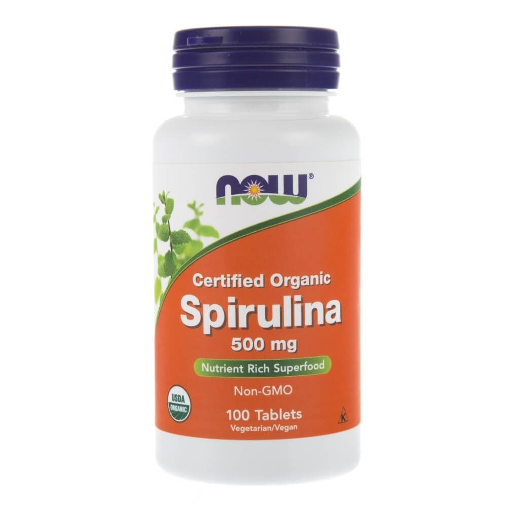 Анонс фото now spirulina 500 mg (100 tabs)