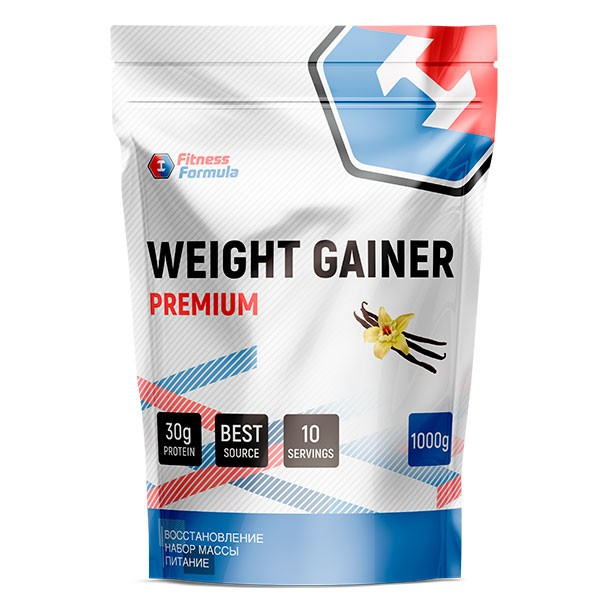 Анонс фото fitness formula weight gainer premium (1000 гр) ваниль