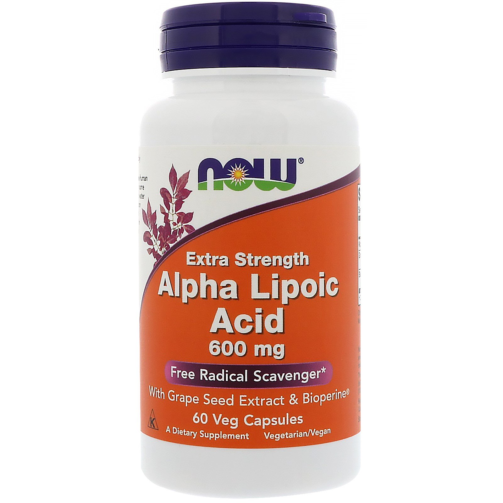 Анонс фото now alpha lipoic acid 600 mg extra strength (60 капс)