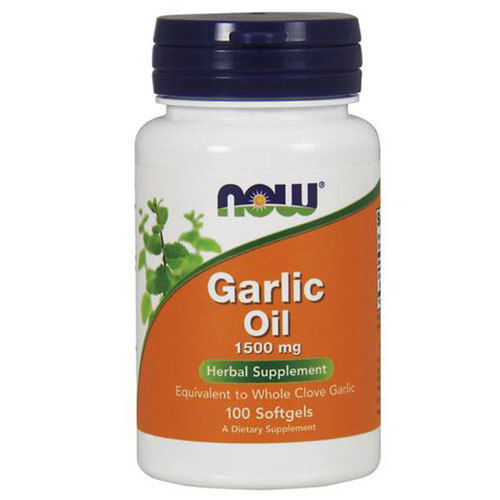 Анонс фото now garlic oil 1500 mg (100 softgels)