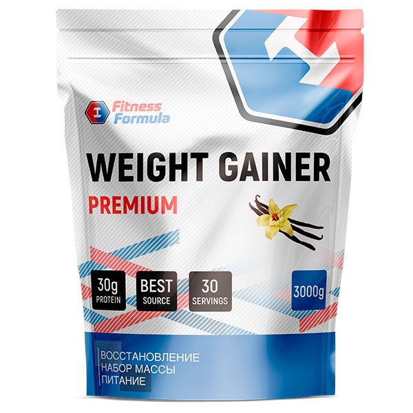Анонс фото fitness formula weight gainer premium (3000 гр) ваниль